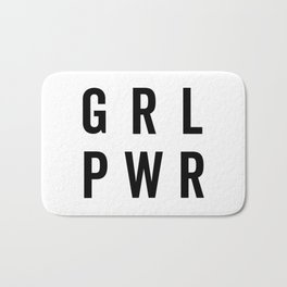 GRL PWR / Girl Power Quote Bath Mat