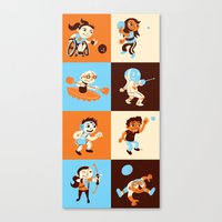 sports Canvas Prints featuring SPORTS! by Samuel Washburn