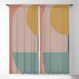 Zen Shape and Color Study 58 Blackout Curtain