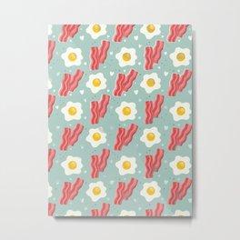 Egg and bacon Metal Print