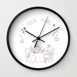 A Mad Tea Party Wall Clock