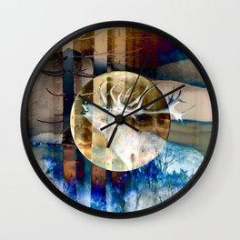 Yellow Moon Mating Call II Wall Clock