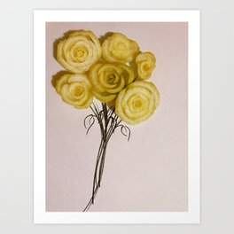 flowers - bokchoy Art Print