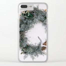 Summer Wreath Clear iPhone Case