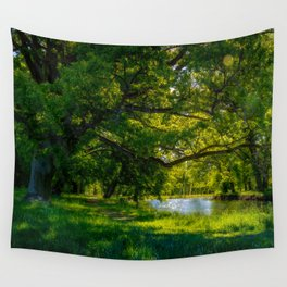 Summer Morning in the Park Wall Tapestry