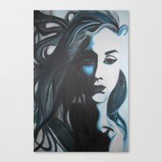 Women In Blue Canvas Print