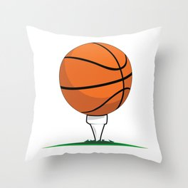 Basketball Tee Throw Pillow