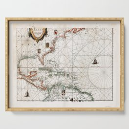 West Indies Map (1634) Serving Tray