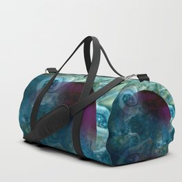 """""""Blue clouds on Saturn"""" Duffle Bag"""