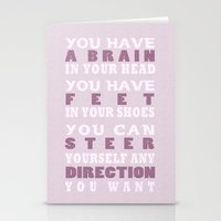dr seuss Stationery Cards featuring Dr Seuss Quote by TayCee