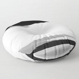 Soft Determination Black & White Floor Pillow