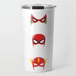 Superhero Masks Travel Mug