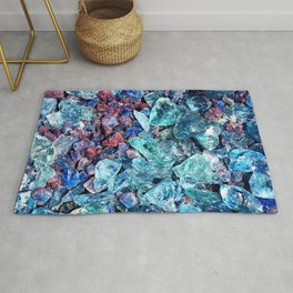 Colored Glass Stones Rug
