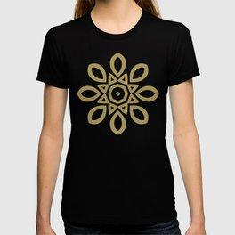 Bright Blue Almond Mandala Spinning Round T-shirt
