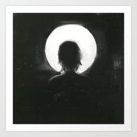 facing the moonlight Art Print
