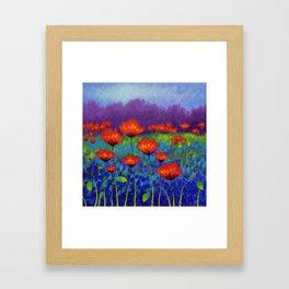Poppy Meadow Framed Art Print