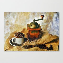 Coffee Grinder and Coffee Cup Canvas Print