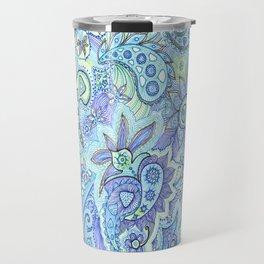 Blue paisley Travel Mug