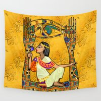 egyptian Wall Tapestries featuring Egyptian Fusion by BohemianBound