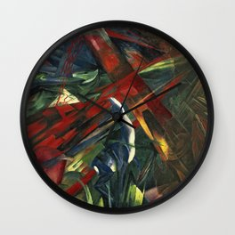 Franz Marc - Fate Of The Animals Wall Clock
