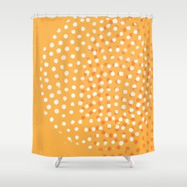 Abstract Modern Contemporary Monochromatic Background in Bright Orange Color GC-118-11 Shower Curtain