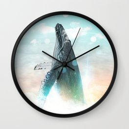 Whale in the Clouds Wall Clock