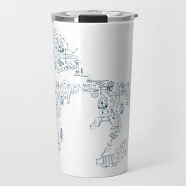 Great Lakes Up North Collage Travel Mug