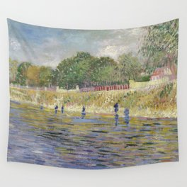 Bank of the Seine by Vincent van Gogh Wall Tapestry