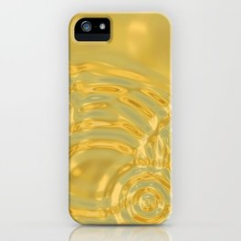 Gold Ripples iPhone Case