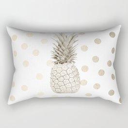 Gold Pineapple Polka Dots 1 Rectangular Pillow