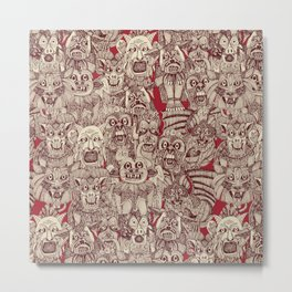 gargoyles red Metal Print