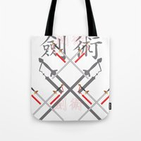 sword Tote Bags featuring China Sword by Littlebell