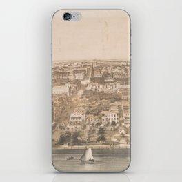 Vintage Pictorial Map of Charleston SC (1851) iPhone Skin