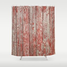 Rustic red wood Shower Curtain
