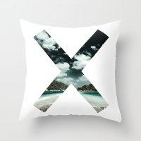 the xx Throw Pillows featuring XX  by Adrian Lungu