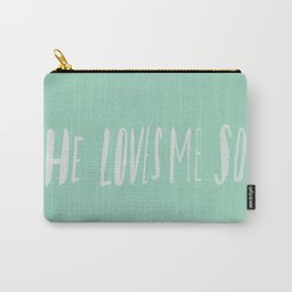 He Loves Me So x Mint Carry-All Pouch