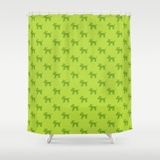 Dogs-Green Shower Curtain