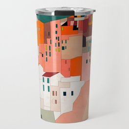 italy coast houses minimal abstract painting Travel Mug