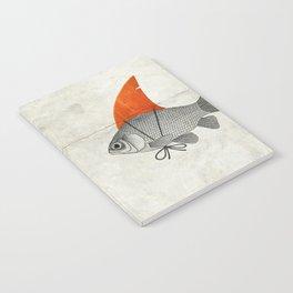 Goldfish with a Shark Fin Notebook