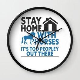 Horse Riding Equestrian Horses Lover Pony Wall Clock