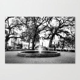 Savannah City Square Canvas Print