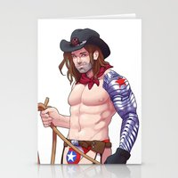 bucky Stationery Cards featuring Pinup Bucky by Madeoftin
