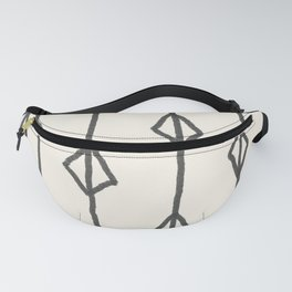 Hand-drawn diamond pattern Fanny Pack