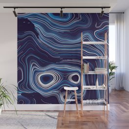 Abstract Colorful Line Wave Art Pattern Wall Mural