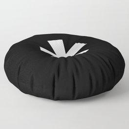 Asterisk (White & Black) Floor Pillow