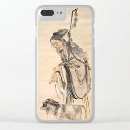 Watanabe Kazan Portrait of Su Wu Clear iPhone Case
