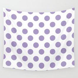 Lavender Medium Polka Dots Wall Tapestry