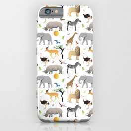 Safari Savanna Multiple Animals iPhone Case