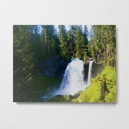 Gushing Waterfall Metal Print