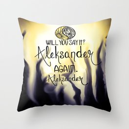 Will you say it? Throw Pillow